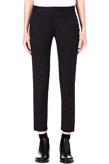 ANN DEMEULEMEESTER Slim-fit ornament trousers