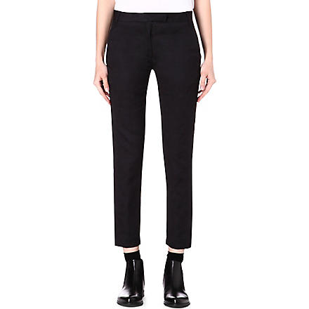 ANN DEMEULEMEESTER Slim-fit ornament trousers (Black