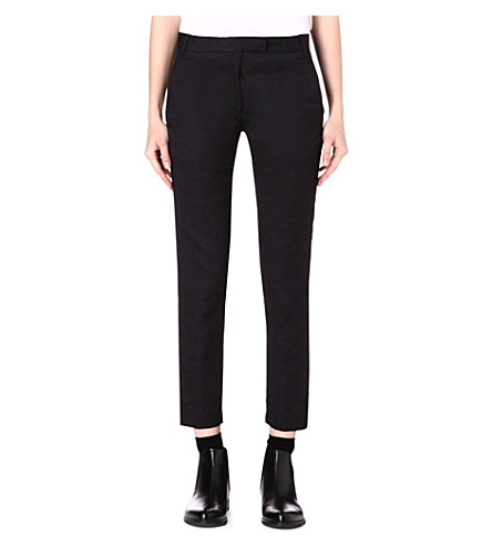ANN DEMEULEMEESTER Slim-fit ornament trousers (Black