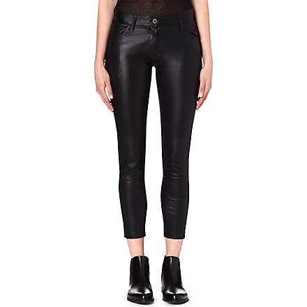 ANN DEMEULEMEESTER Peltry slim-fit trousers (Black