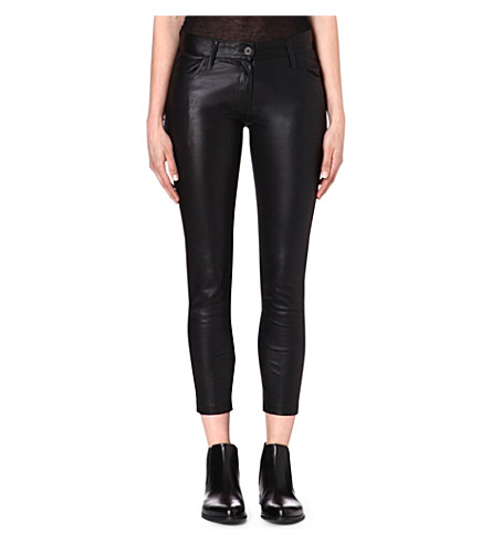 ANN DEMEULEMEESTER Peltry slim-fit trousers (Black