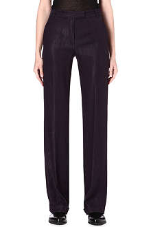 ANN DEMEULEMEESTER Loose-fit crepe trousers