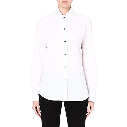 ANN DEMEULEMEESTER Double tie cotton shirt (White