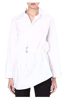 ANN DEMEULEMEESTER Asymmetric cotton shirt