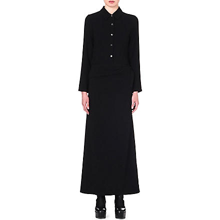 ANN DEMEULEMEESTER Button-up maxi dress (Black