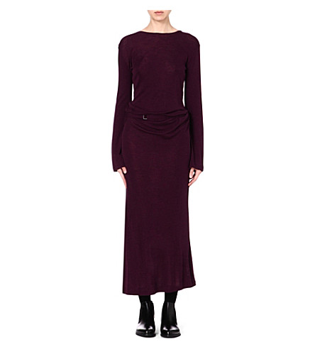 ANN DEMEULEMEESTER Long-sleeved wool-blend dress (Violetta