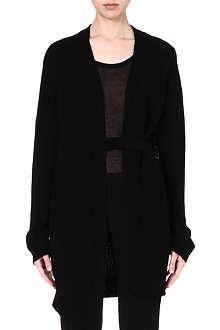 ANN DEMEULEMEESTER Knitted waist belt cardigan