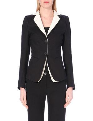 ANN DEMEULEMEESTER Double lapel linen-blend blazer