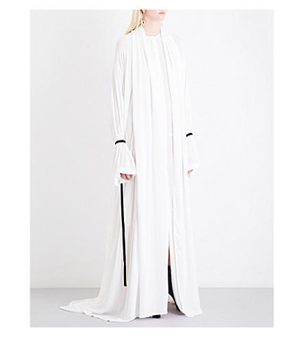 ANN DEMEULEMEESTER Ewing voile gown (Rosy/velevet+black