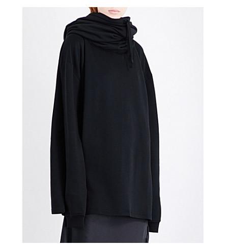 ANN DEMEULEMEESTER Grito jersey sweatshirt (Black
