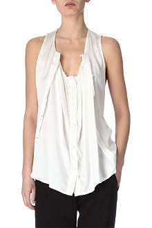 ANN DEMEULEMEESTER Silk-satin top