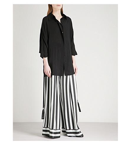 ANN DEMEULEMEESTER Oversized woven shirt (Black
