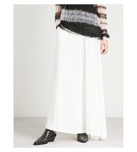 ANN DEMEULEMEESTER Side-split cotton-jersey maxi skirt (Off+white