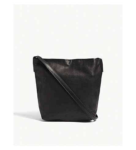 ANN DEMEULEMEESTER Mini leather shoulder bag (Black