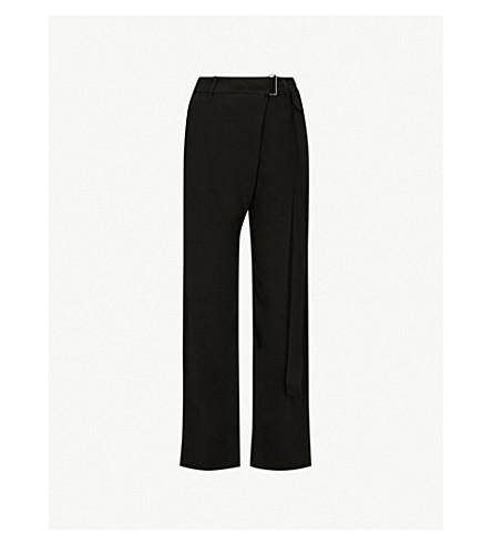9 Wide-leg crepe trousers (Black
