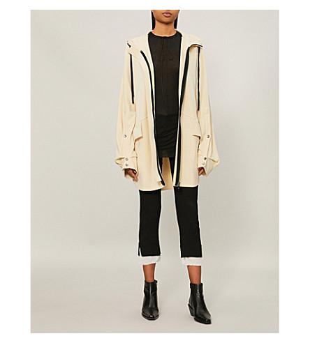 plinth Oversized cotton-jersey hoody (Ecru