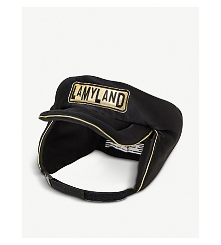 STEPHEN JONES Lamyland padded silk-satin headband (Black/gold