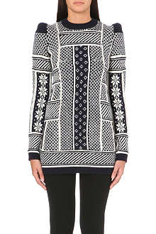 MAISON MARTIN MARGIELA Patterned peak shoulder jumper