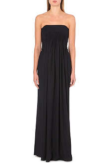 MAISON MARTIN MARGIELA Strapless wool-blend gown