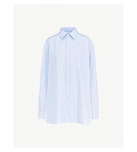 MAISON MARGIELA Oversized cotton-poplin shirt (Pale blue
