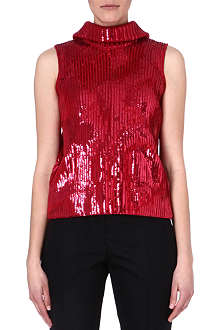 MAISON MARTIN MARGIELA Sequin knit top