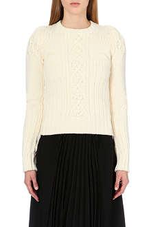 MAISON MARTIN MARGIELA Cable-knit wool jumper
