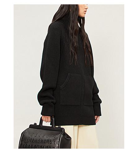 MAISON MARGIELA Cutout wool cardigan (Black