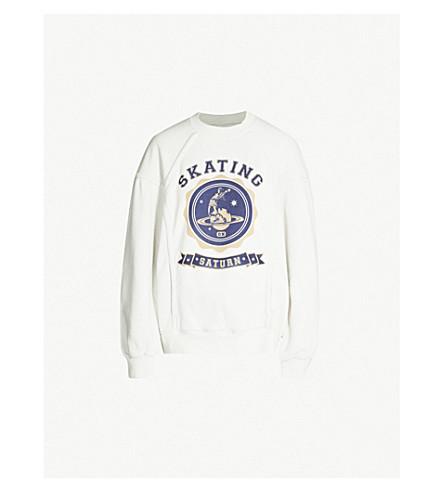 MAISON MARGIELA Skate-print cotton-jersey sweatshirt (Ice