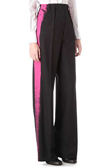 MAISON MARTIN MARGIELA Painted stripe tuxedo trousers