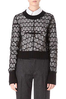 MAISON MARTIN MARGIELA Long-sleeved embroidered jumper