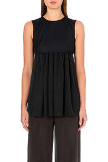 MAISON MARTIN MARGIELA Pleated wool-blend top