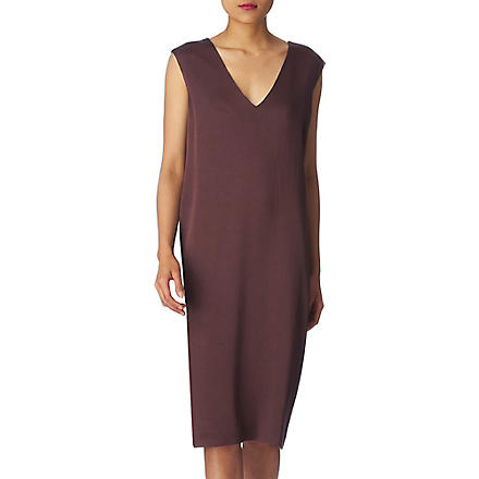 MAISON MARTIN MARGIELA V-neck dress (Plum