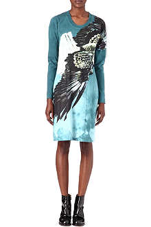 MAISON MARTIN MARGIELA Eagle-print tie-dye dress