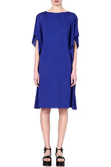 MAISON MARTIN MARGIELA Frilled crepe boat neck dress