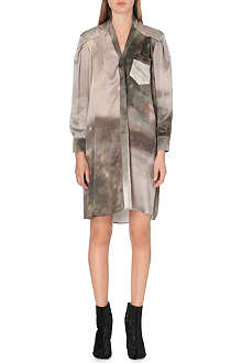 MAISON MARTIN MARGIELA Silk-satin shirt dress