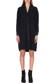 MAISON MARTIN MARGIELA Stand collar crepe dress