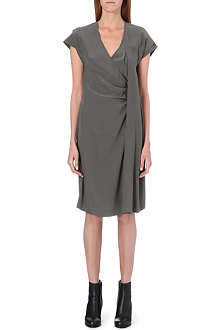 MAISON MARTIN MARGIELA Ruched crepe dress