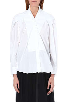 MAISON MARTIN MARGIELA Pleat-detail cotton shirt