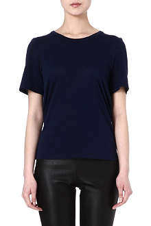 MAISON MARTIN MARGIELA Draped-back jersey t-shirt