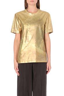 MAISON MARTIN MARGIELA Metallic crew-neck t-shirt