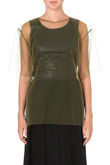 MAISON MARTIN MARGIELA Sheer tulle top
