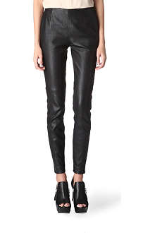 MAISON MARTIN MARGIELA Leather trousers