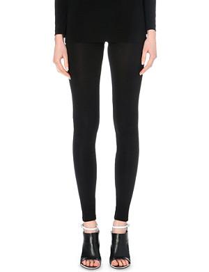 MAISON MARTIN MARGIELA Semi-sheer skinny crepe trousers