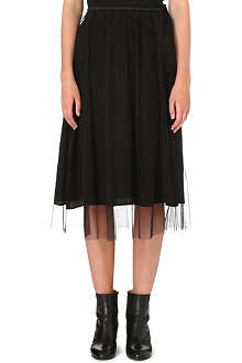 MAISON MARTIN MARGIELA Silk and tulle skirt