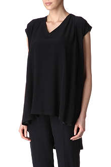 MAISON MARTIN MARGIELA Capped-sleeve silk top
