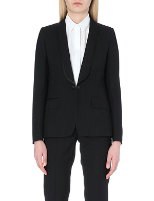 MAISON MARTIN MARGIELA Wool-blend shoulder pad jacket