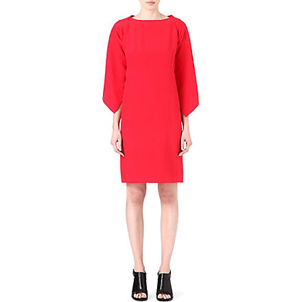 MAISON MARTIN MARGIELA Cape-back silk dress (Red
