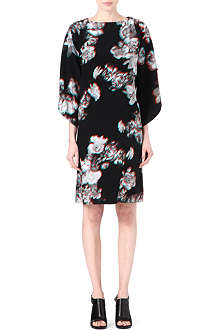 MAISON MARTIN MARGIELA Floral-print cape-back dress