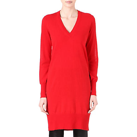 MAISON MARTIN MARGIELA Fine-knit jumper dress (Red