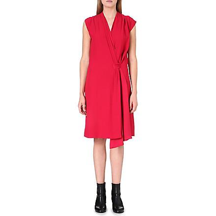 MAISON MARTIN MARGIELA Tie-detail wrap dress (Raspberry